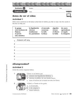 capitulo 3a writing actividad 11 answers