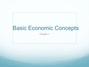Basic Economic Concepts Chapter 1
