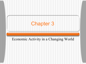 Chapter 3 Economic Activity in a Changing World