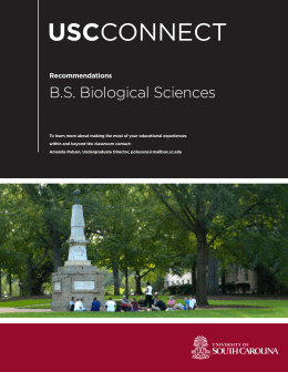 USC B.S. Biological Sciences Recommendations