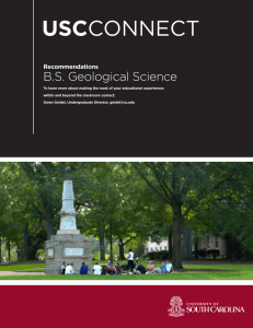 USC B.S. Geological Science Recommendations