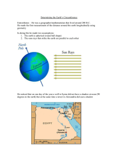 Determining the Earth's Circumference