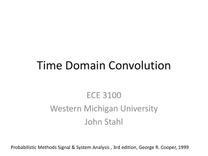 Time Domain Convolution ECE 3100 Western Michigan University John Stahl