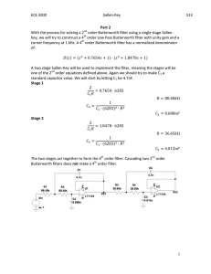 ECE 3200 Sallen-Key S13 With the process for solving a 2