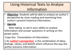 Using Historical Texts to Analyze Information