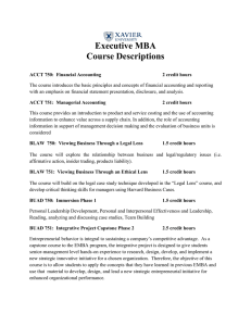 Executive MBA Course Descriptions