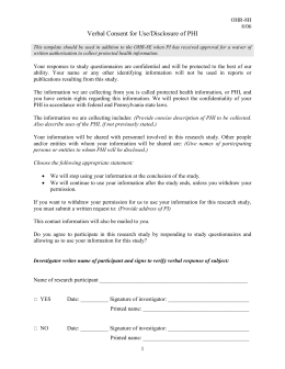Sample HIPAA Compliant Consent Form
