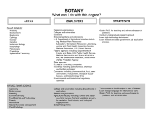 BOTANY What can I do with this degree? STRATEGIES EMPLOYERS