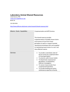 Laboratory Animal Shared Resources
