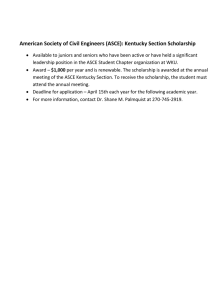 American Society of Civil Engineers (ASCE): Kentucky Section Scholarship