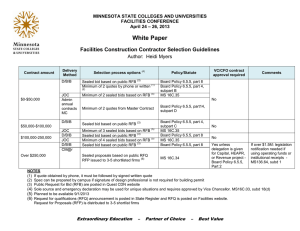 White Paper Facilities Construction Contractor Selection Guidelines  Author:  Heidi Myers