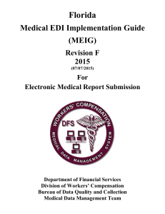 Florida Medical EDI Implementation Guide (MEIG) Revision F