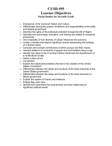 CUSD #95 Learner Objectives Social Studies for Seventh Grade