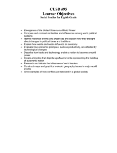 CUSD #95 Learner Objectives Social Studies for Eighth Grade