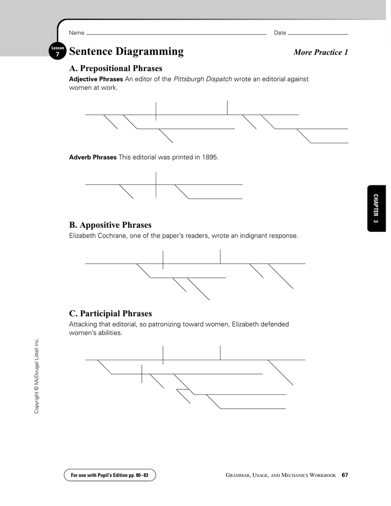 Sentence diagramming a prepositional phrases b appositive phrases sentence diagramming a prepositional phrases b appositive phrases more practice 1 ccuart Images