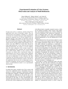 Experimental Evaluation of N-tier Systems: Observation and Analysis of Multi-Bottlenecks