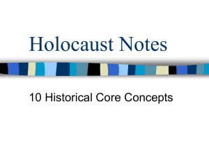 Holocaust Notes 10 Historical Core Concepts