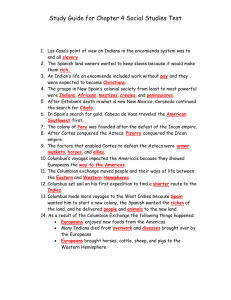 Study Guide for Chapter 4 Social Studies Test