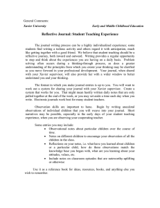 Reflective Journal: Student Teaching Experience