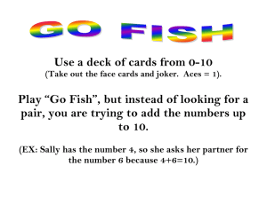 Use a deck of cards from 0-10