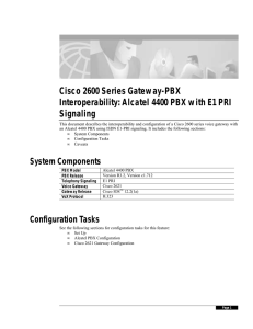 Cisco 7200 Series Gateway-PBX Interoperability: PA-VXC-2T1E1+ card
