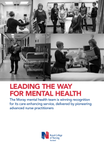 LEADING THE WAY FOR MENTAL HEALTH