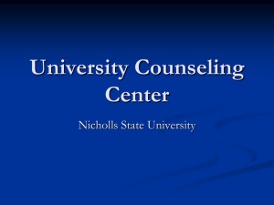 University Counseling Center Nicholls State University