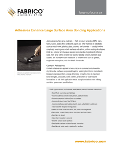 Adhesives Enhance Large Surface Area Bonding Applications large surface area
