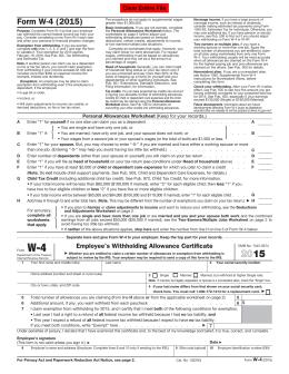 STUDENT TAX FORM Please Print