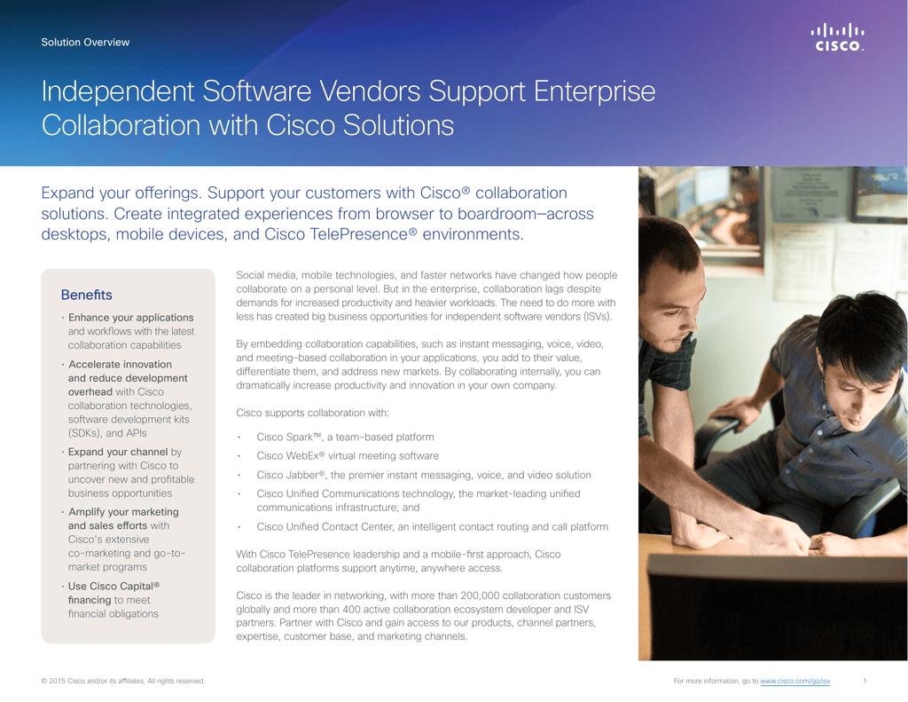 Independent Software Vendors Support Enterprise