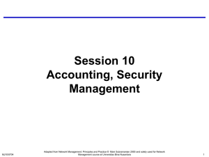 Session 10 Accounting, Security Management
