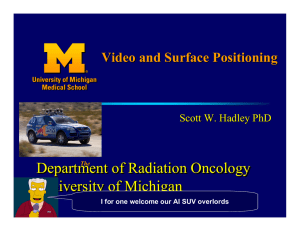 Department of Radiation Oncology University of Michigan