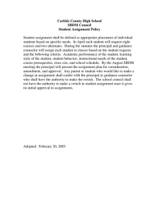 Carlisle County High School SBDM Council Student Assignment Policy