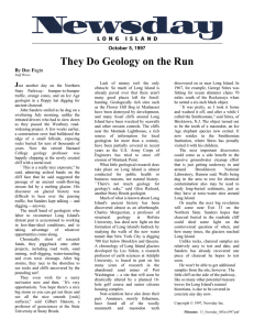 They Do Geology on the Run J  October 5, 1997