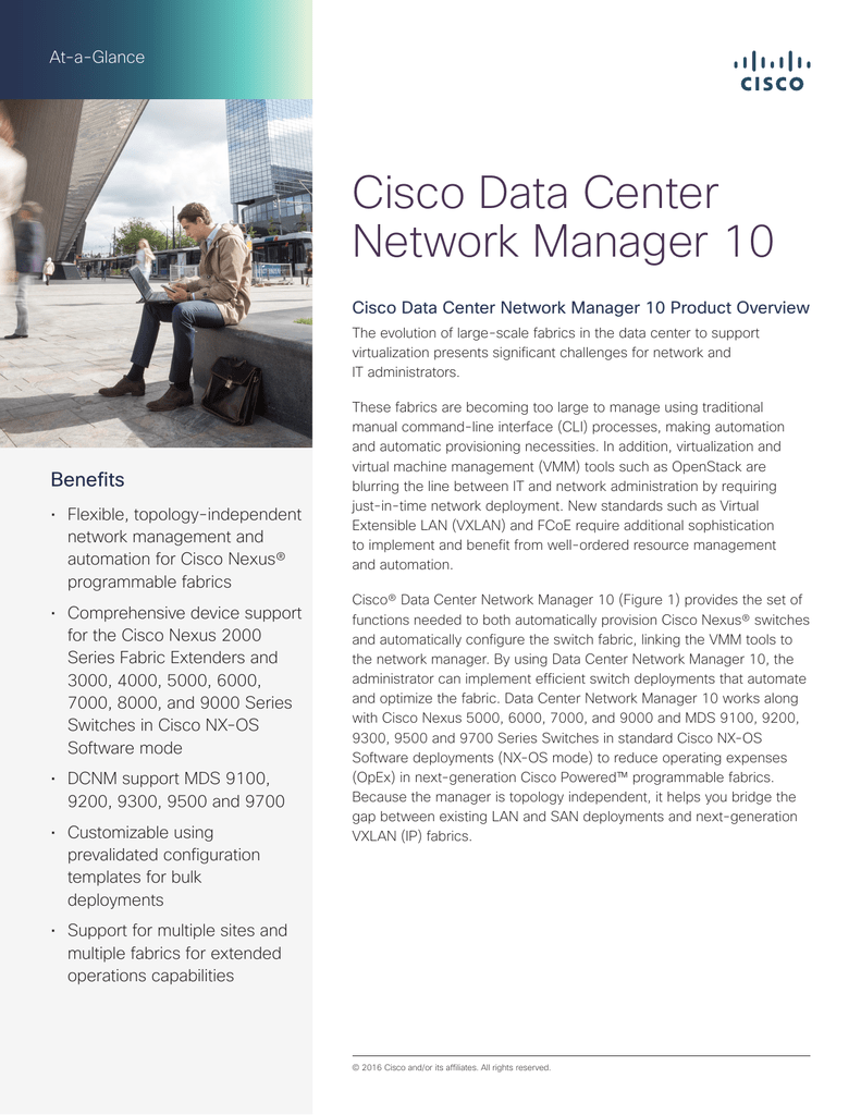 Cisco Data Center Network Manager 10 At-a-Glance