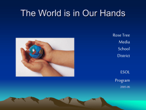 The World is in Our Hands Rose Tree Media School