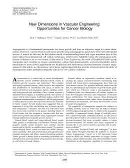 New Dimensions in Vascular Engineering: Opportunities for Cancer Biology