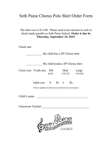 Seth Paine Chorus Polo Shirt Order Form