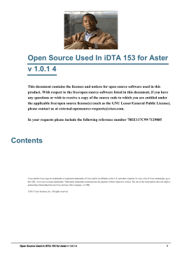 Open Source Used In iDTA 153 for Aster v 1.0.1 4