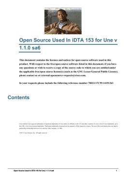 Open Source Used In iDTA 153 for Une v 1.1.0 sa6