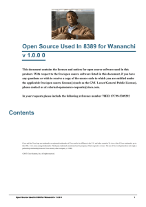 Open Source Used In 8389 for Wananchi v 1.0.0 0