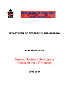 Meeting Society's Geoscience Needs for the 21 Century