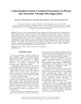 Understanding Women's Gendered Experiences in Physics and Astronomy Through Microaggressions