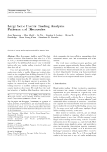 Large Scale Insider Trading Analysis: Patterns and Discoveries