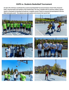 XUPD vs. Students Basketball Tournament