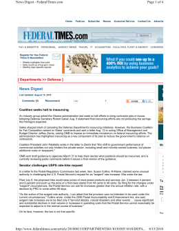 Page 1 of 4 News Digest - FederalTimes.com