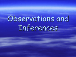 Observations and Inferences
