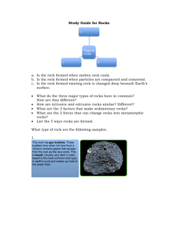 Study Guide for Rocks