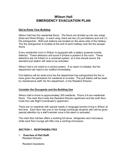 Wilson Hall EMERGENCY EVACUATION PLAN