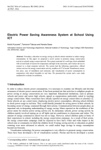 Electric Power Saving Awareness System at School Using ICT , 201